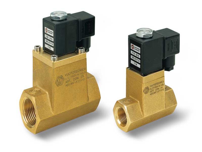 Magnetventile für Vakuum mit 2 wegen mit Direktsteuerung