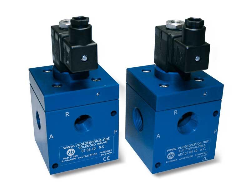Magnetventile für Vakuum mit 3 wegen mit Direktsteuerung