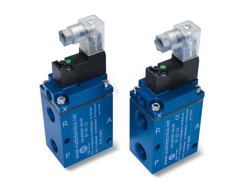3-Wege-Vakuum-Magnetventile, Servogesteuert, mit geringer Absorption Elektrischer Spule