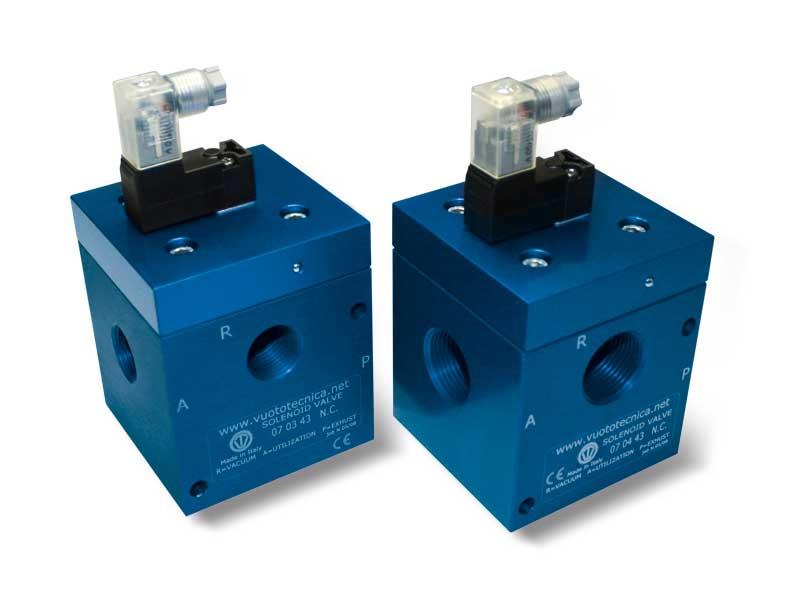 Magnetventile für Vakuum mit 3 Wegen mit Direktsteuerung mit geringer Absorption Elektrischer Spule