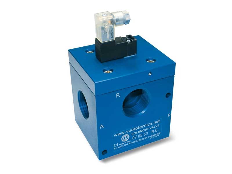 3-Wege-Vakuum-Magnetventile, mit Direktsteuerung, mit bistabilem Impulsmagnetventil und mit geringer Absorption elektrischer Spule