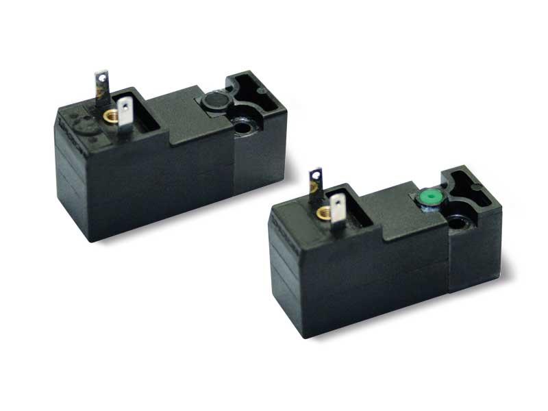 Servogesteuerte Magnetventile mit integrierter elektrischer Spule mit geringer Absorption
