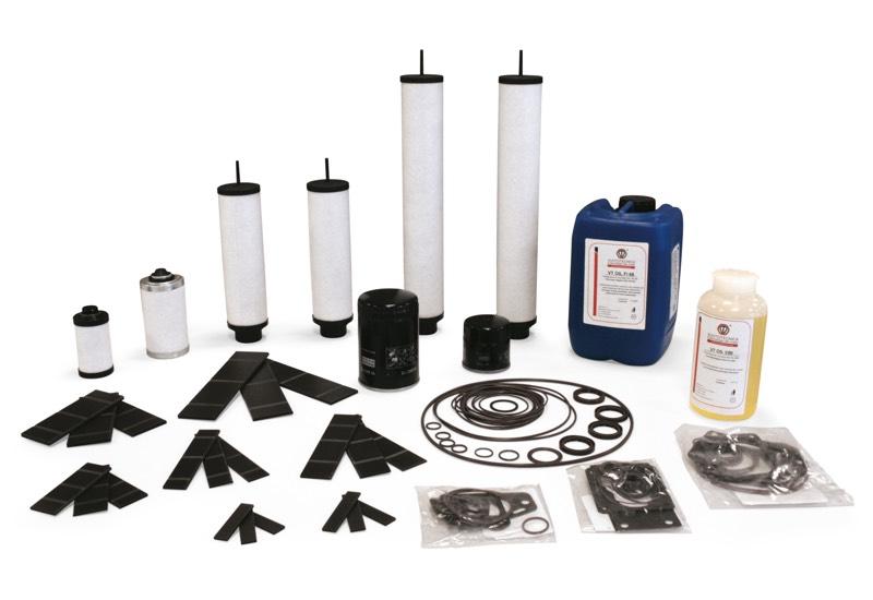 Zubehör und Ersatzteile für geschmierte Vakuumpumpen