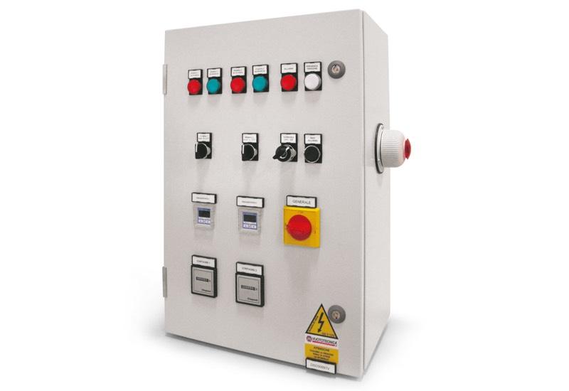 Elektrisches Steuergerät für Sicherheits-Vakuumsystemen mit zwei Pumpen