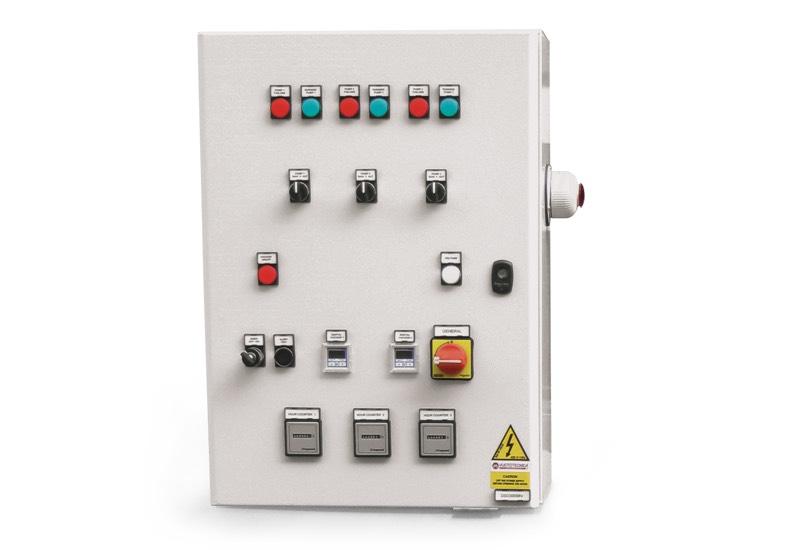 Elektrisches Steuergerät für Sicherheits-Vakuumsystemen mit drei Pumpen