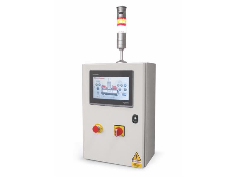 Elektrische steuergeräte mit touchscreen-bildschirm und SPS für vakuumsysteme und sicherheits-vakuumsysteme mit zwei oder mehr pumpen