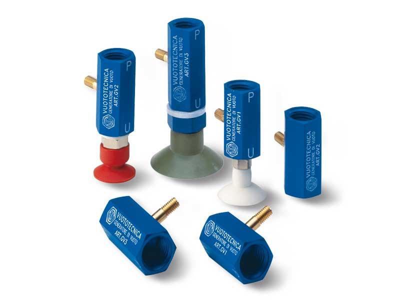 Einstufige Vakuumerzeuger in Reihe GV 1, GV 2 und GV 3