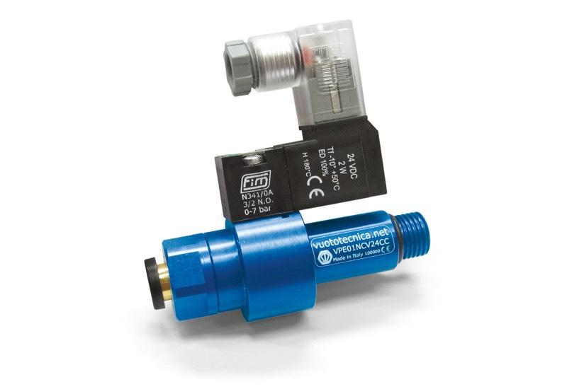 Zubehör für einstufige Vakuumerzeuger - Pneumatikventil mit Koaxialverschluss