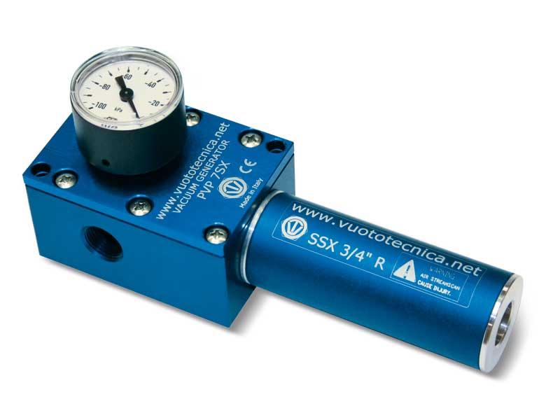 Einstufige Vakuumerzeuger PVP 7, PVP 14 und PVP 18 SX / SXLP