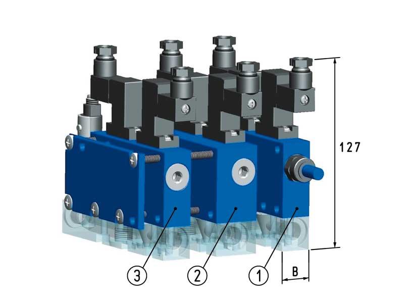 Zusammensetzung der modularen Vakuumsysteme