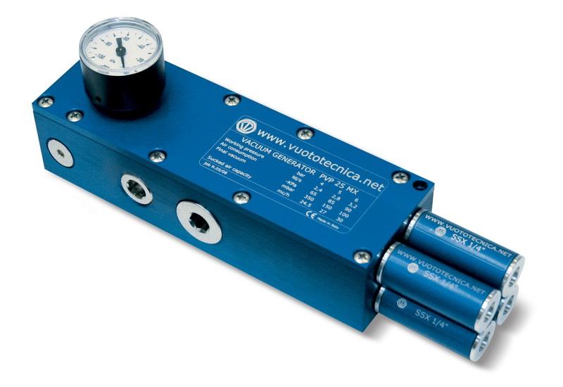 Mehrstufige Vakuumerzeuger PVP 25 MX / MXLP