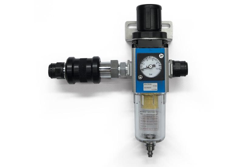 Pneumatische Ausrüstung für die Versorgung von Minivakuumpumpen DOP 06, DOP 10 und DOP 20
