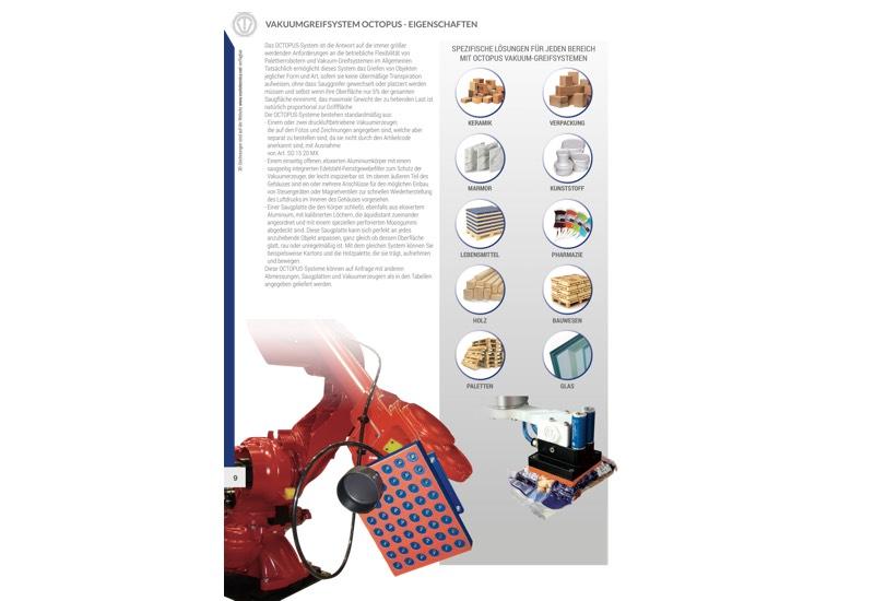 Vakuumgreifsystem OCTOPUS - Eigenschaften