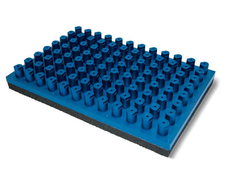 Saugplatten Standard mit selbstschliessende Ventile PXE und P2XE, für Systeme OCTOPUS
