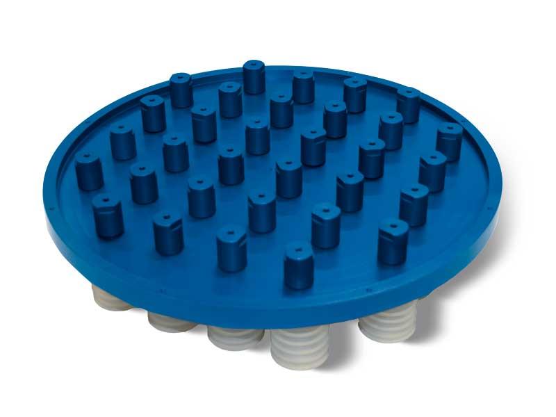Saugplatten Standard mit selbstschliessende Ventile P2V2E, für Systeme OCTOPUS