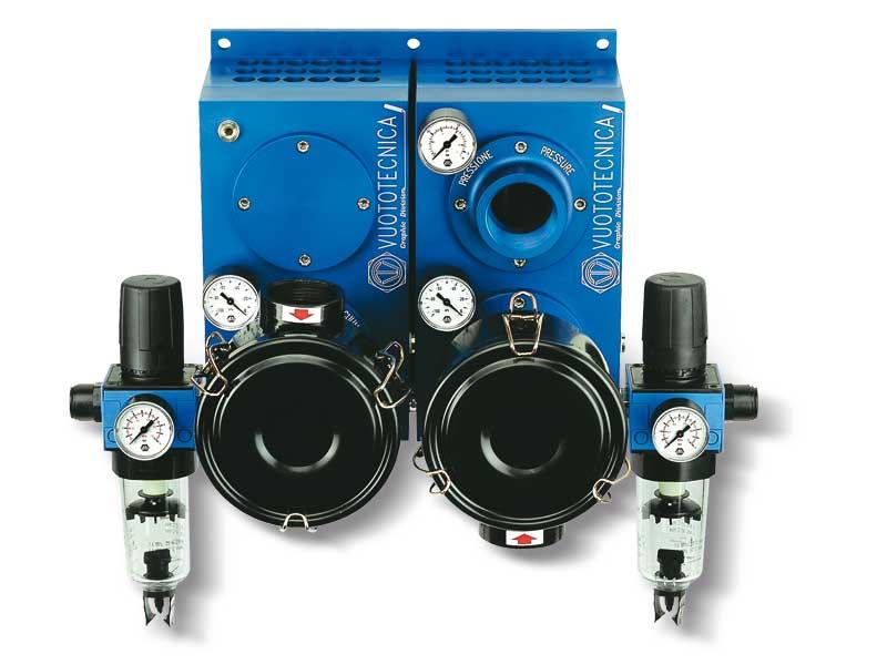 Pneumatische Saugpumpen PA und Gebläsepumpen PS gepaart PA PA 250 ÷ 300 mit PS 250 ÷ 300