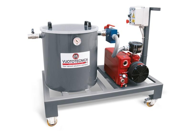 Mobiles System für die Vakuuminfusion von Harzen