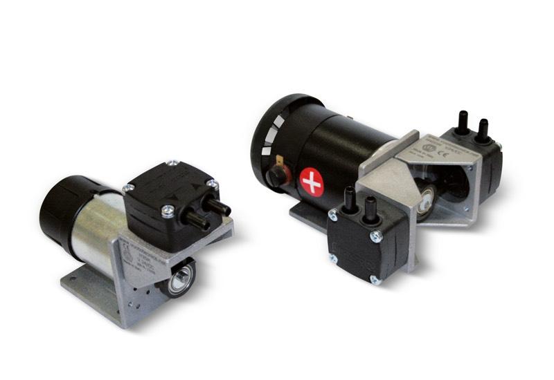Membran-Minipumpen für Vakuum, mit Gleichstrommotor