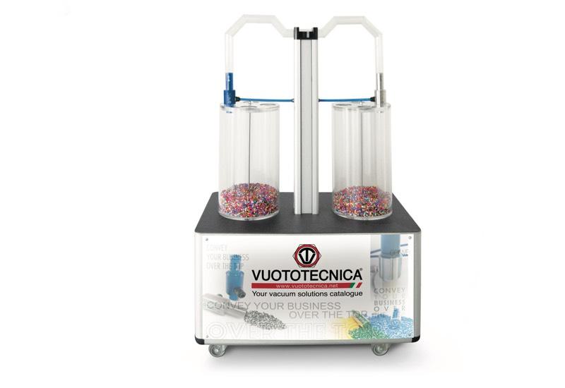 Muster und ausrüstungen für demonstrationszwecke - Demonstrationseinheit für den transport von pulvern und granulaten, mit strömungserzeugern CX - CONVY01