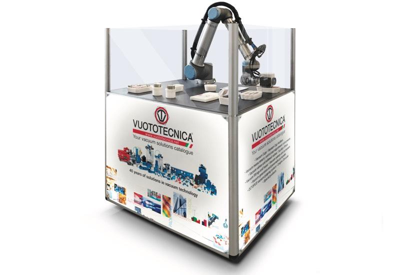 Muster und ausrüstungen für demonstrationszwecke - Roboter ausgestattet zum greifen und handhaben von objekten mit speziellen vakuumsaugern und -greifern - VACBOT