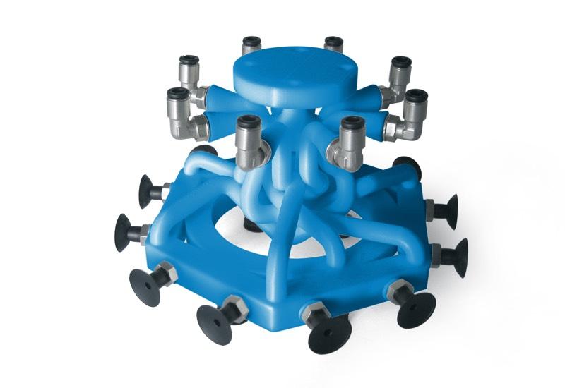 Sonderausführungen der greifsysteme OCTOPUS mit 3D-drucker