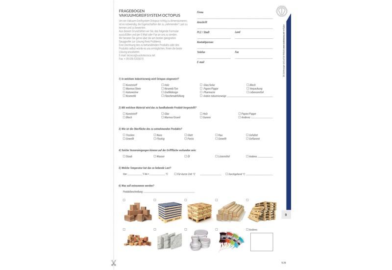 Fragebogen vakuumgreifsystem OCTOPUS