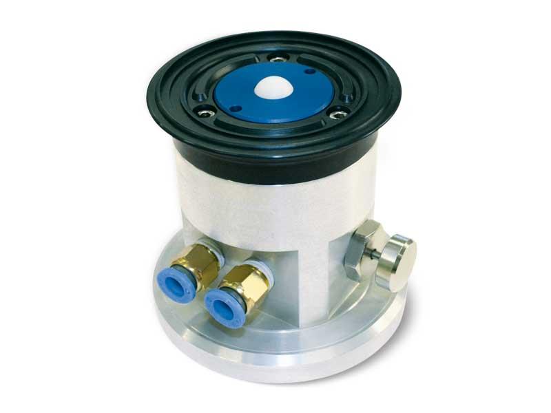 Einbausauggreifer mit kugelverschluss, selbstverriegelnder halterung und entriegelungstaste für glas