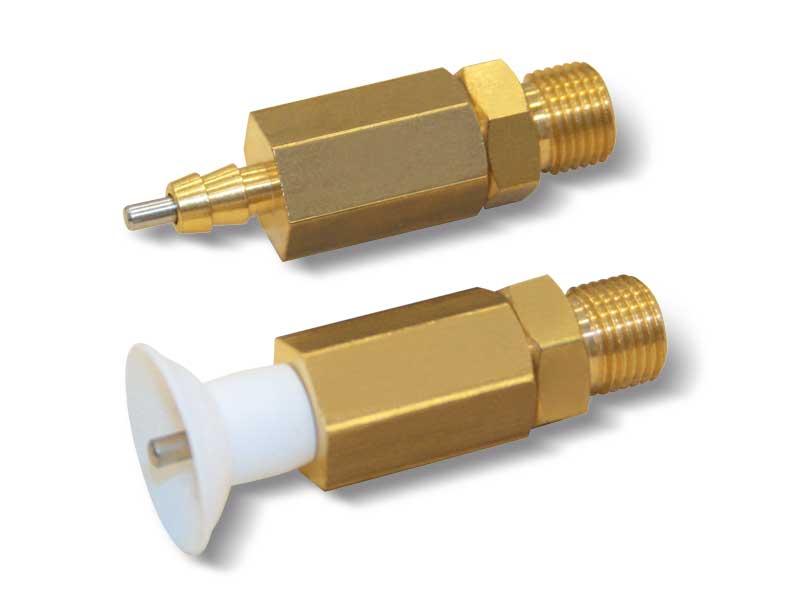 Mini-sauggreiferhalter mit taster ohne federwirkung