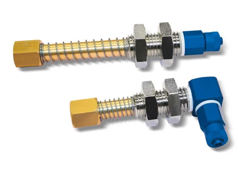 Einfache sauggreiferhalter mit innen- und außengewindeanschlüssen